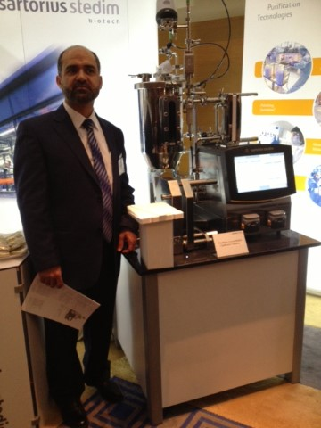 In Bioproduction conference in Istanbul standing near a mid scale concentrator