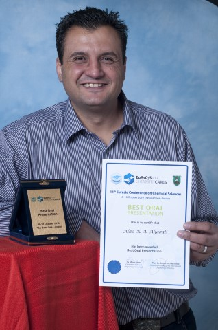 Winner of Best oral Presentation at the 11th Euro-Asian conference on chemical Sciences