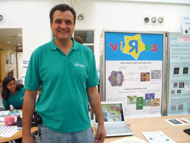 At JIC explaining the amazing world of viruses to school children